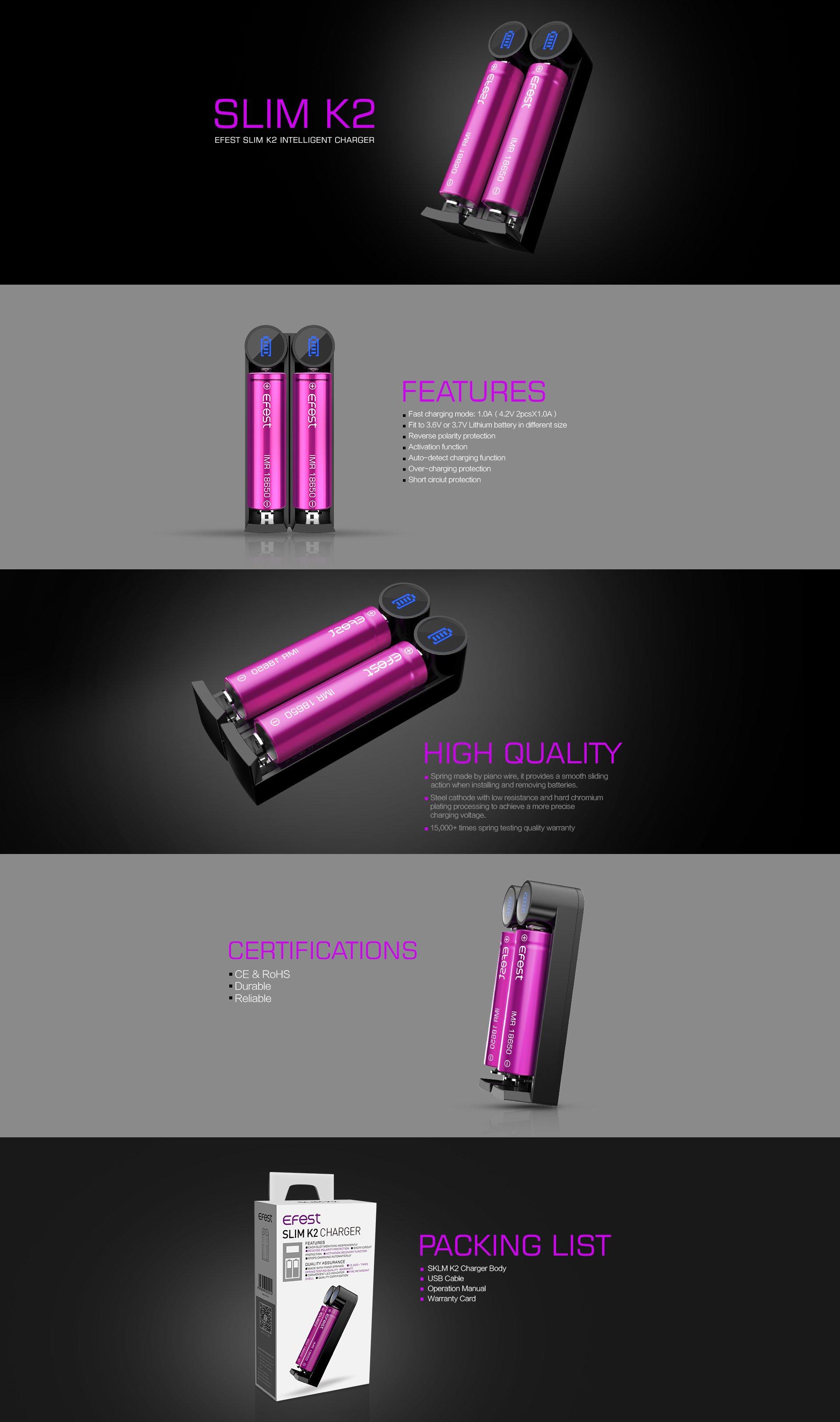 Efest-Slim-K2-Caricabatterie