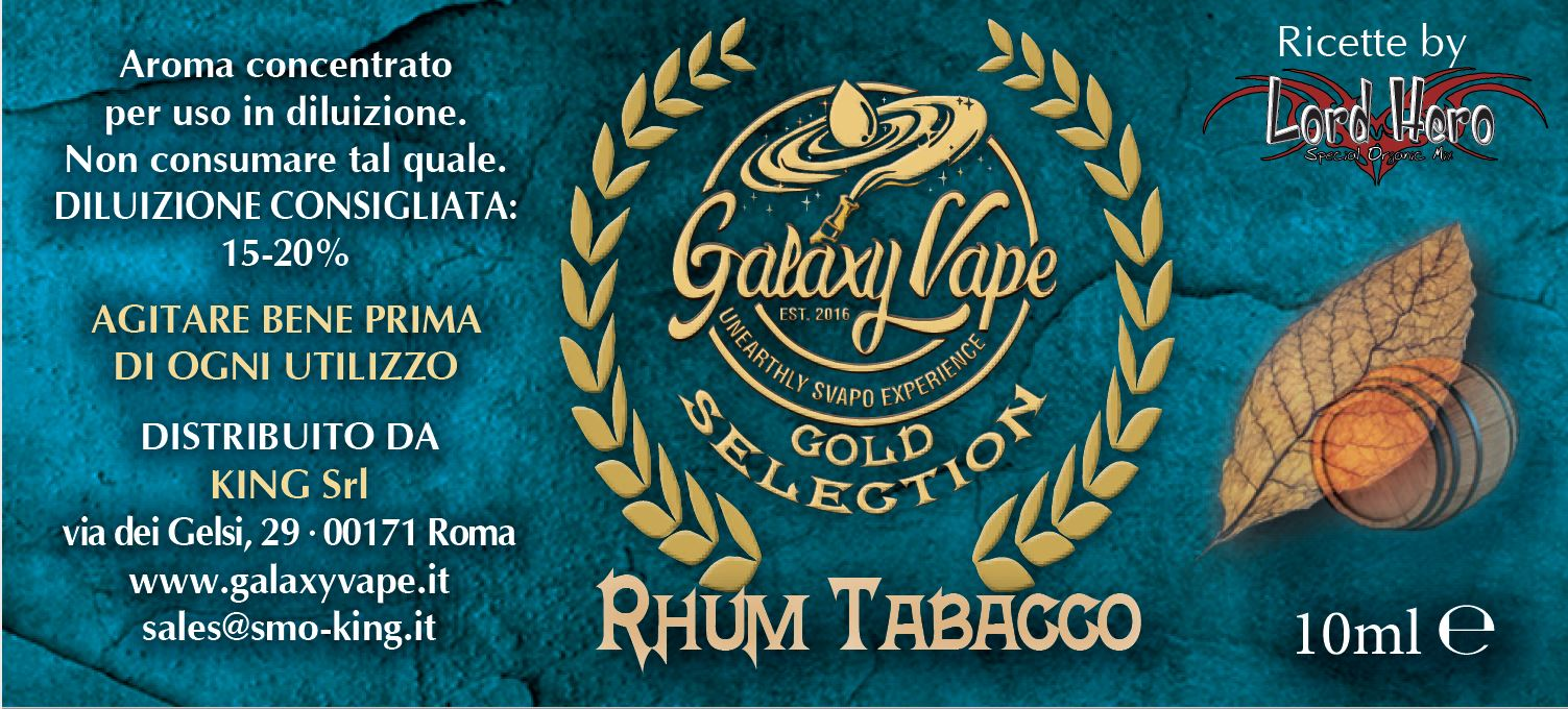 Rhum Tabacco Galaxy Vape 10ml