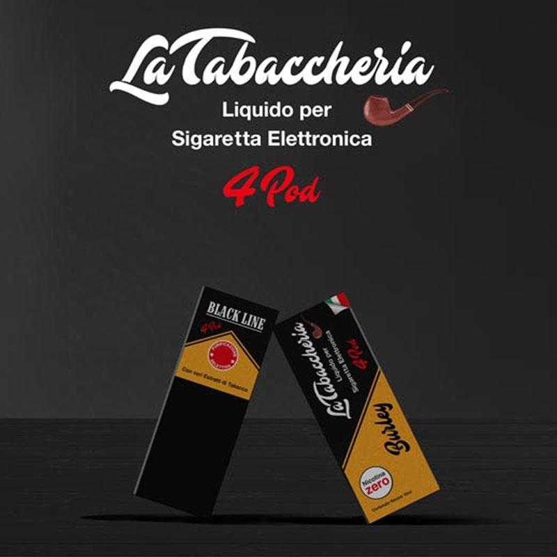 La Tabaccheria Black Line 4Pod Burley 10ml Liquido TPD