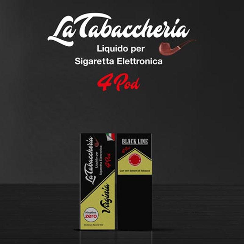 La Tabaccheria Black Line 4Pod Virginia 10ml Liquido TPD