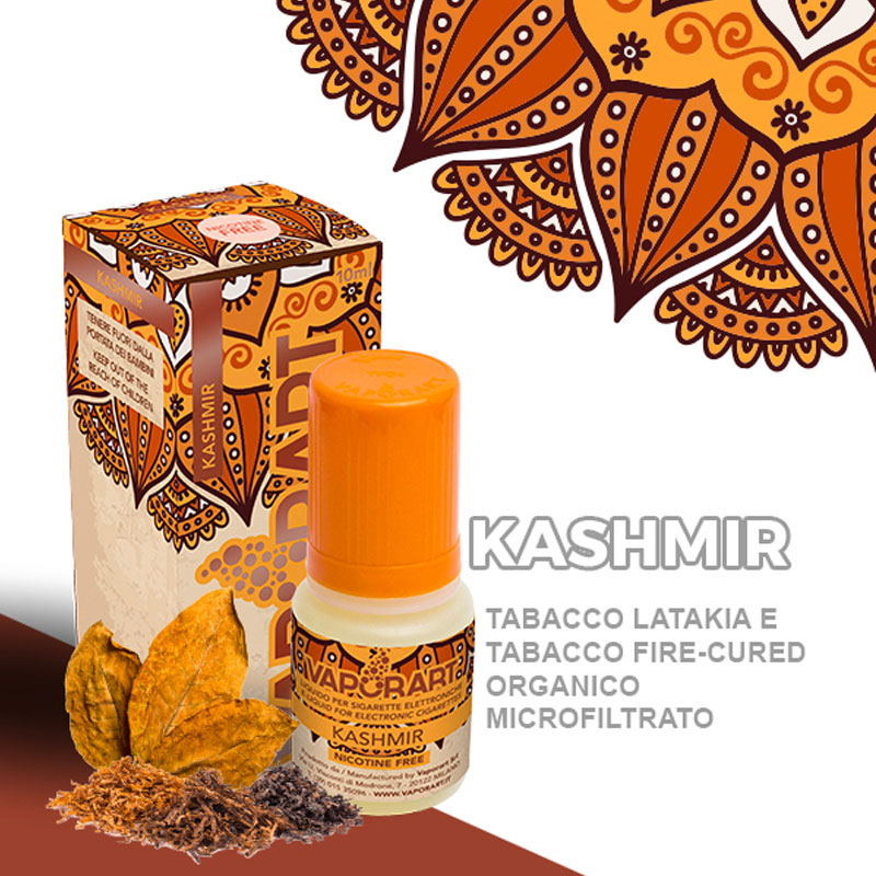 Vaporart Kashmir 10 ml Liquido Pronto Nicotina