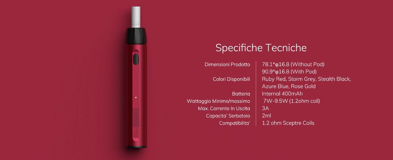 Caratteristiche Sigaretta Elettronica Innokin EQ FLTR Pod Mod