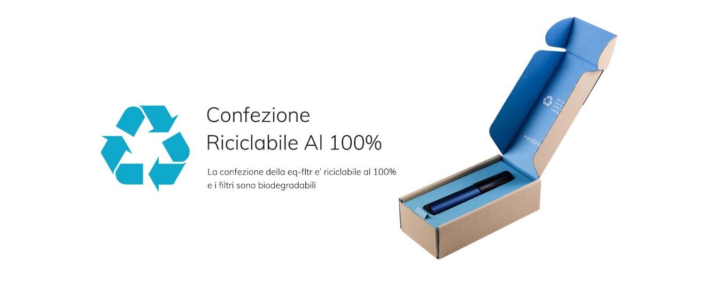 Confezione Riciclabile Sigaretta Elettronica Innokin EQ FLTR Pod Mod