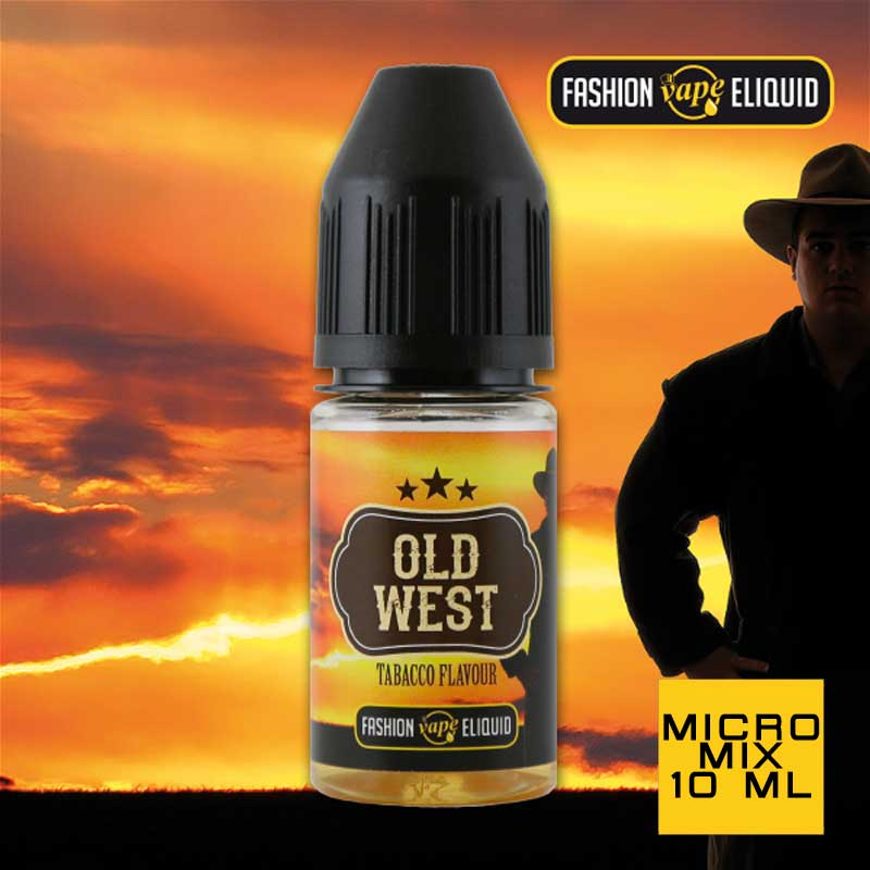 Fashion Vape Eliquid Old West Tabacco Flavour MICRO MIX 10ml