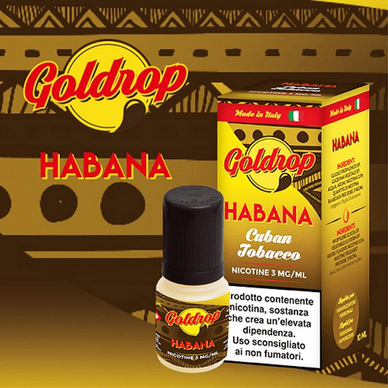 Vaporart Goldrop Habana 10 ml Liquido Pronto Nicotina