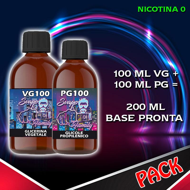 Svapo Family Kit Base Neutra 50/50 200 ml