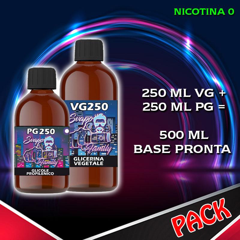Svapo Family Kit Base Neutra 50/50 500 ml