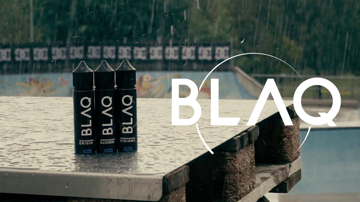 Banner BLAQ VAPOR Liquidi Sigarette Elettroniche formato aroma scomposto