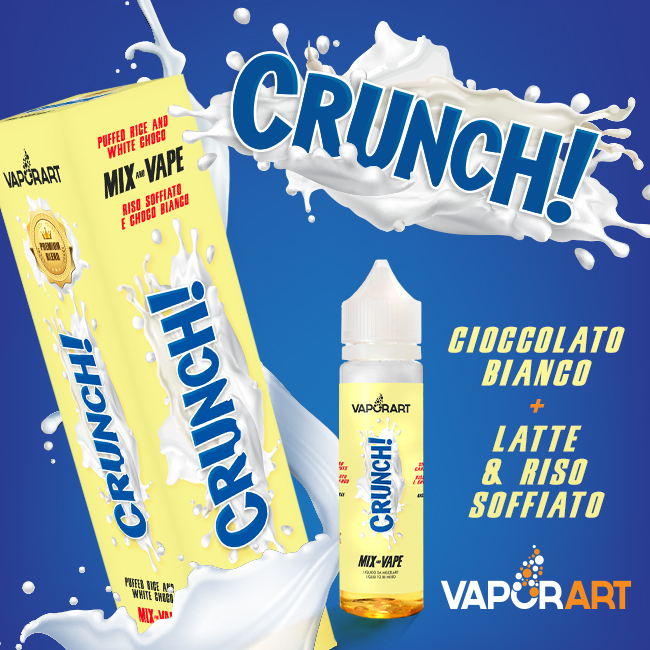 Vaporart Crunch 40 ml Mix Liquido Sigaretta Elettronica