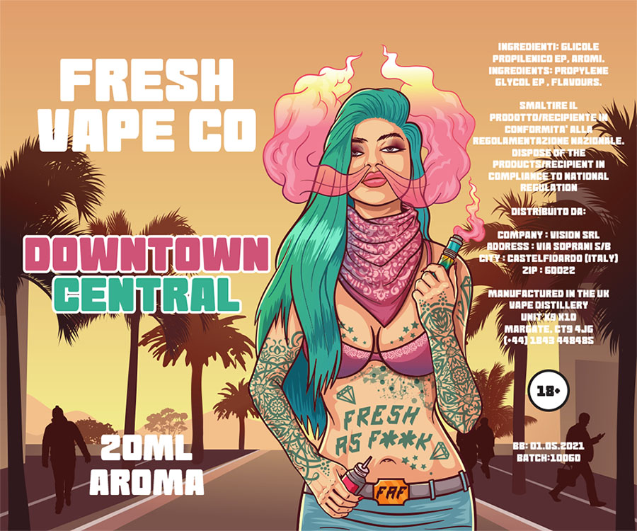 Fresh Vape Co Downtown Central Aroma 20 ml