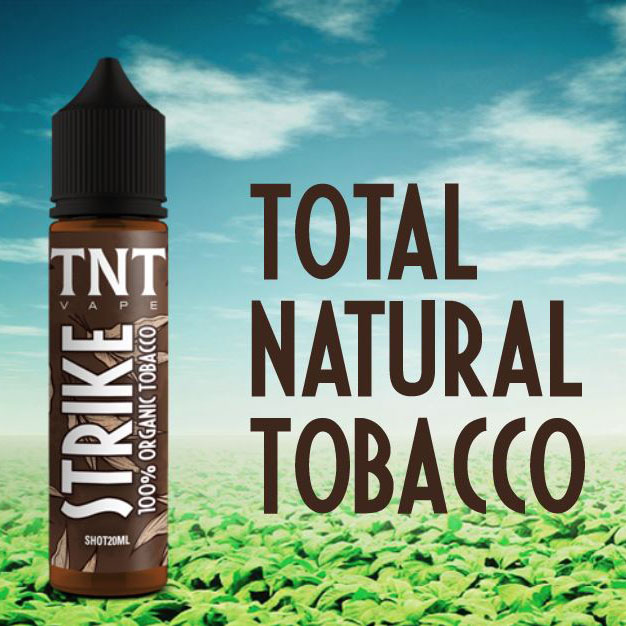 Strike Tobacco della linea Total Natural Tobacco di TNT Vape, aroma concentrato 20 ml