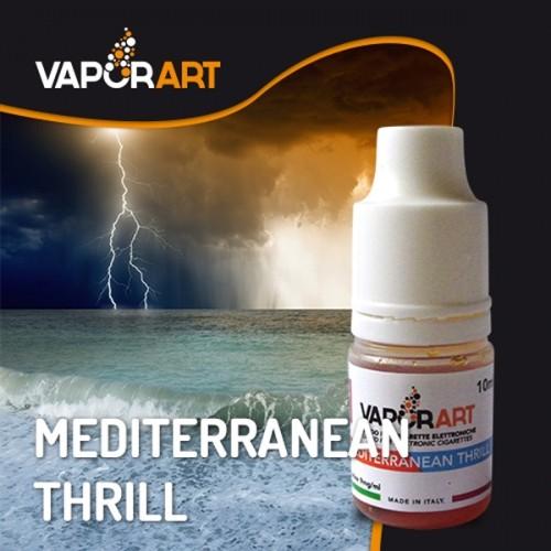 Il liquido di Vaporart Mediterranean Thrill con mandarino, sambuca, una leggera menta e assenzio