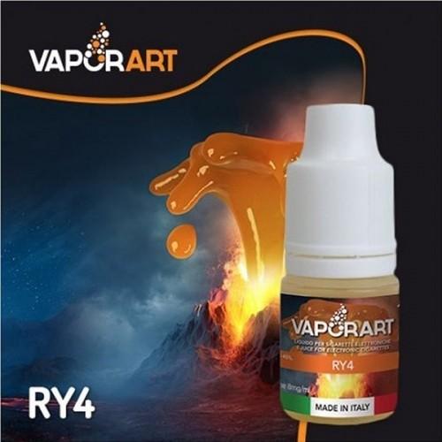 Il liquido di Vaporart ry4 con caramello e vaniglia