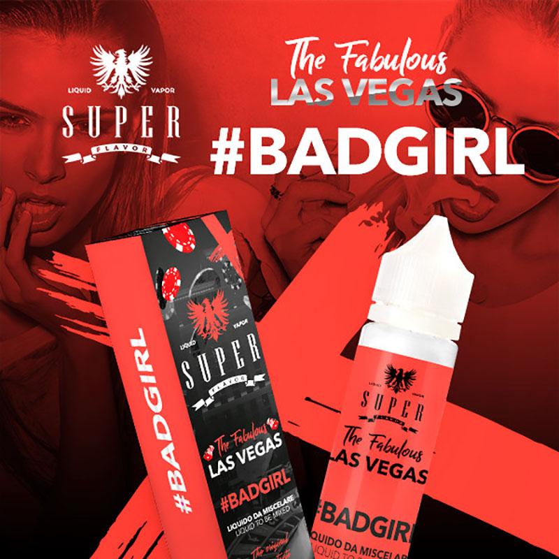 Super Flavor Badgirl 50 ml mix un liquido per sigaretta elettronica al sapore di sorbetto ghiacciato con frutta dolce e frutta acida