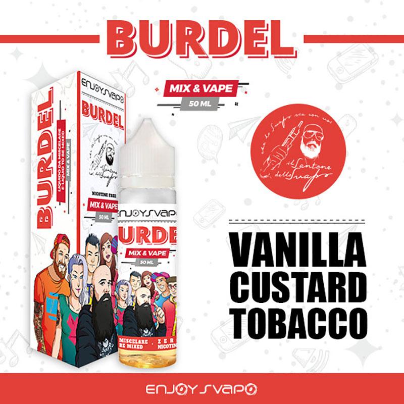 Burdel Il Santone dello svapo 50 ml mix al sapore di vaniglia e tabacco