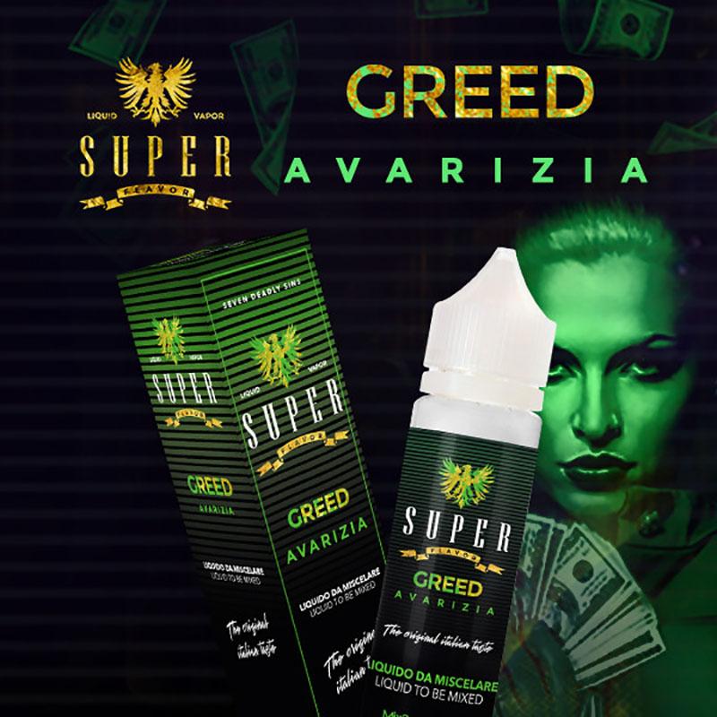 Super Flavor Greed 50 ml mix un liquido per sigaretta elettronica al sapore di liquirizia, limone e menta fresca