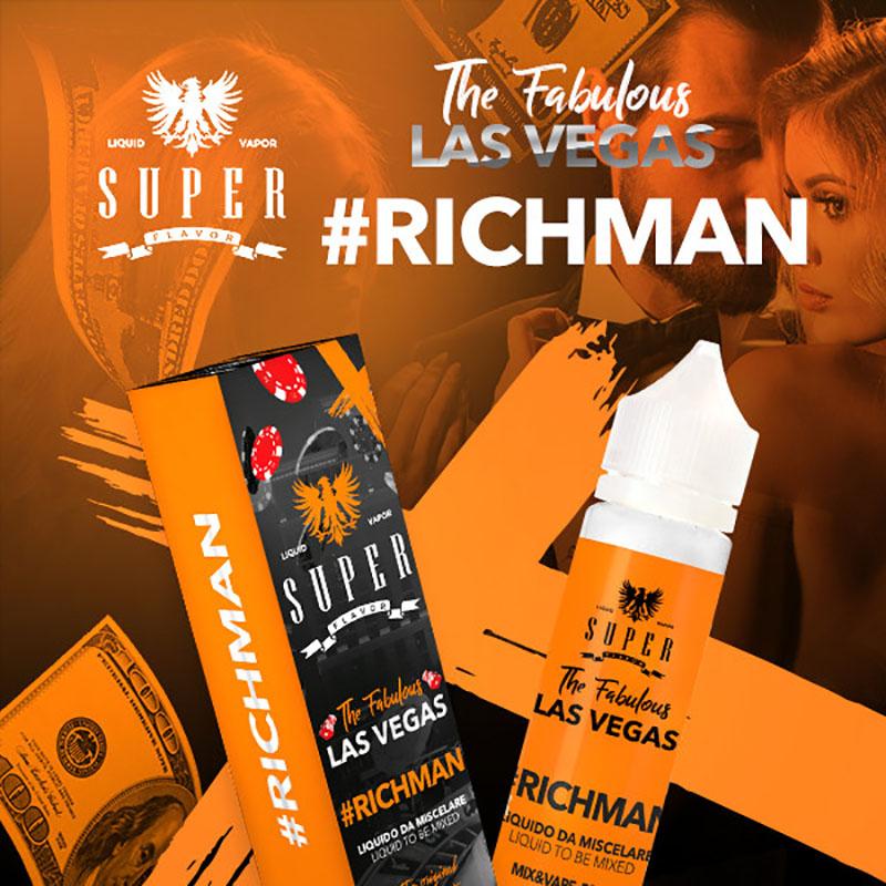 Super Flavor Richman 50 ml mix un liquido per sigaretta elettronica al sapore di tabacco e creme