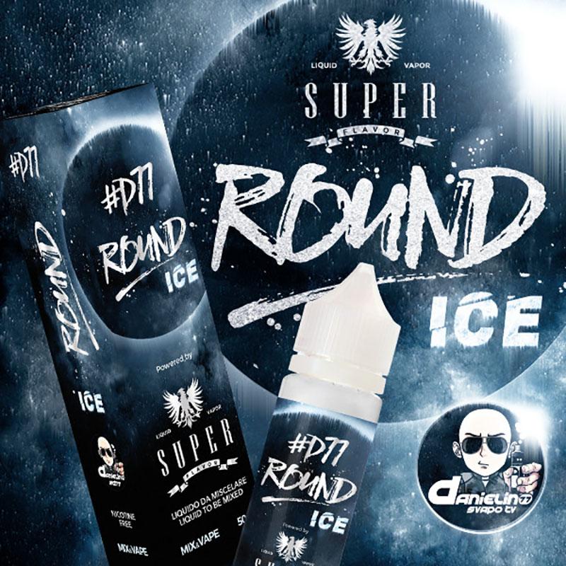 Super Flavor Round Ice Danielino77 50 ml mix un liquido per sigaretta elettronica al sapore di Gelato alla vaniglia ghiacciato con Ribes nero