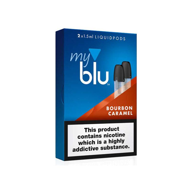 Bourbon Caramel liquido per la sigaretta elettronica BLU, boubon e caramello