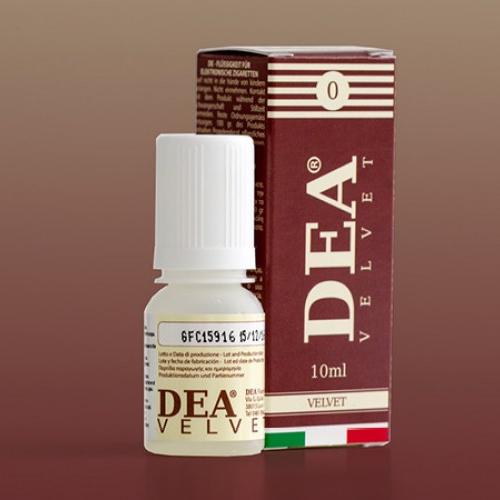 Il Dea Flavor Velvet 10 ml con nicotina ha un sapore di nocciola, vaniglia e caramello