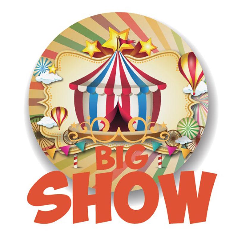 Big Show Aroma concentrato della Jamplab, piccole palline di pastafrolla con una cascata di miele e palline colorate.