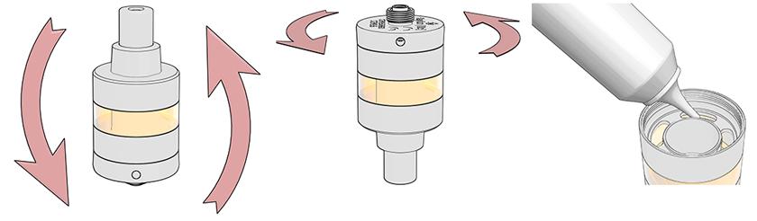 La ricarica del liquido avviene in maniera semplice sul nuovo Kayfun Lite
