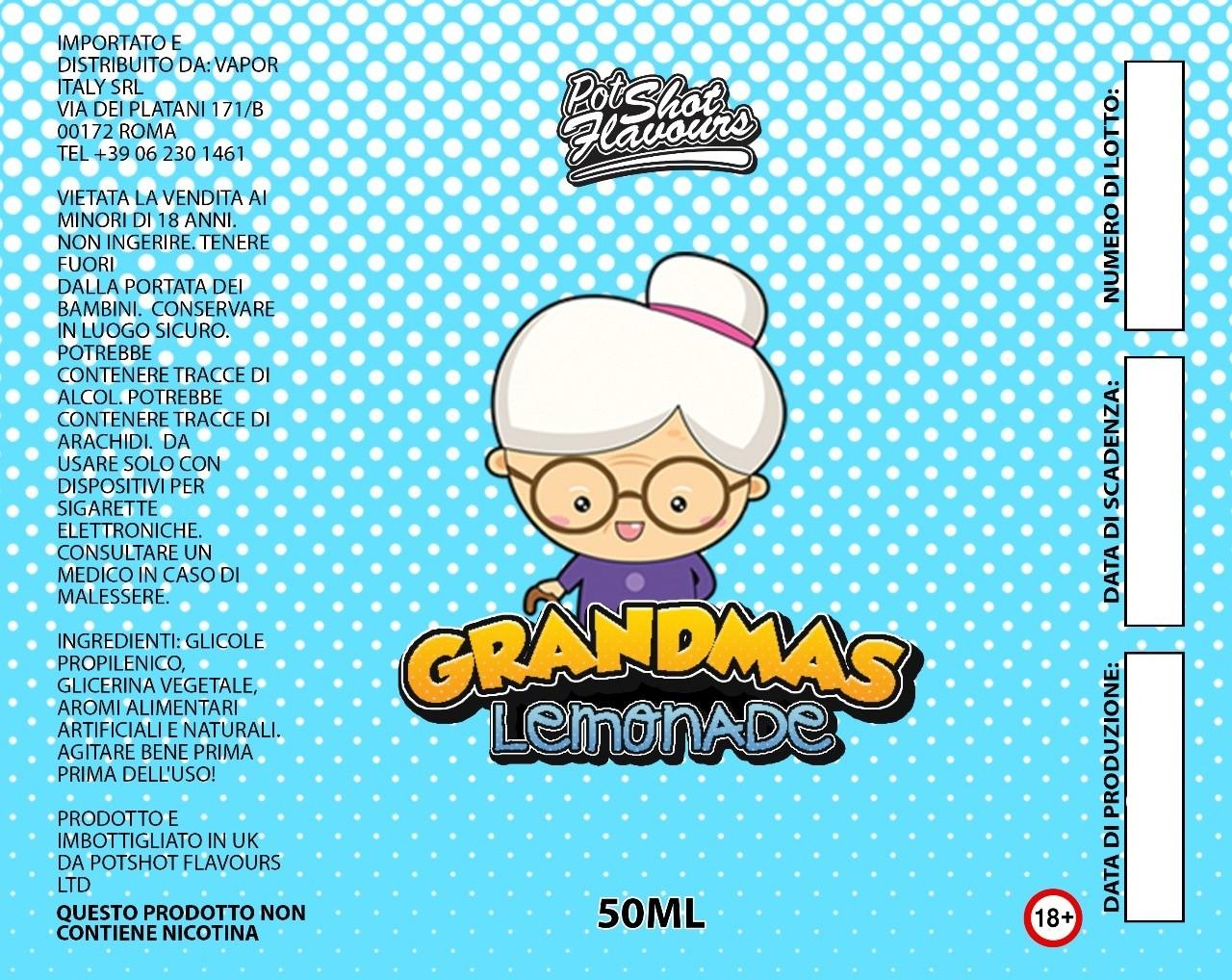Pot Shot Flavour Grandmas Lemonade 50 ml Mix