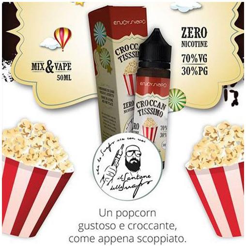 Il Santone dello Svapo liquido Mix and vape Croccantissimo 50 ml Mix, un popcorn appena scoppiato.
