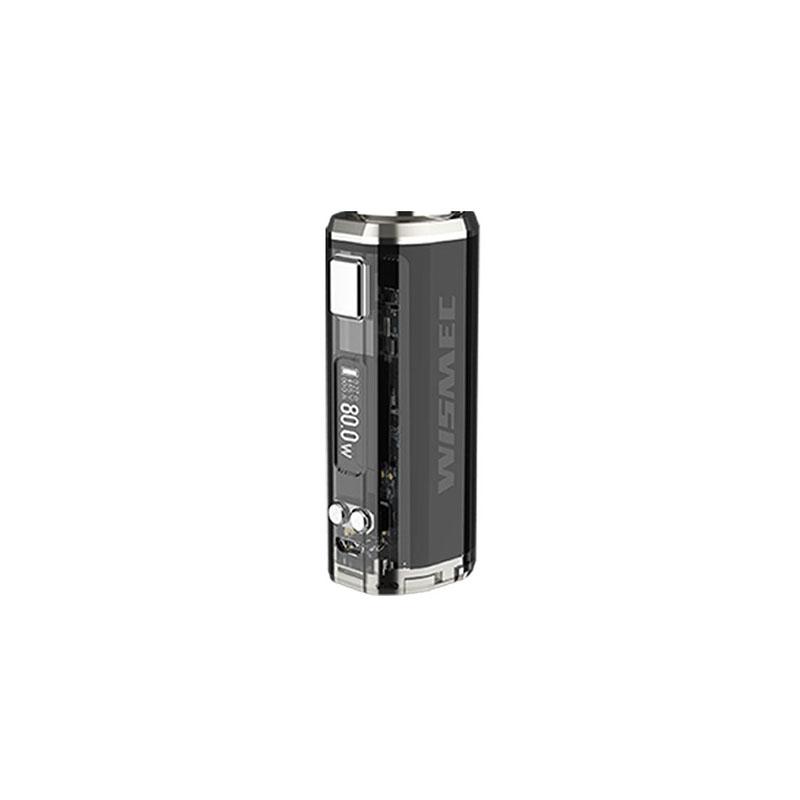 Sinuous V80 Box Mod della Wismec, alimentata da una singola batteria 18650 per 80W di potenza