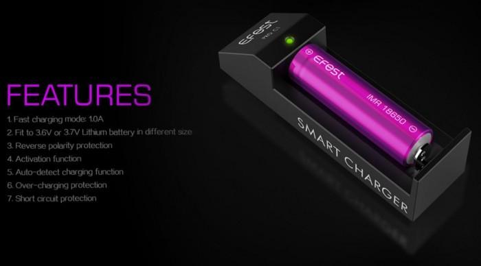 Il nuovo caricabatterie Efest Pro c1