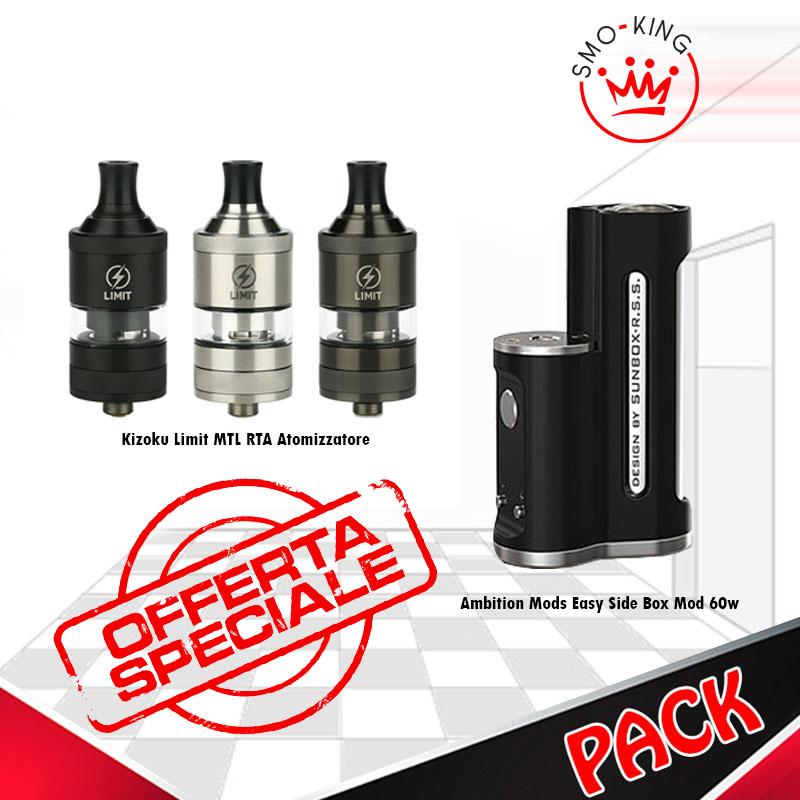 Starter Kit Pack Easy Side & Limit sigaretta elettronica completa