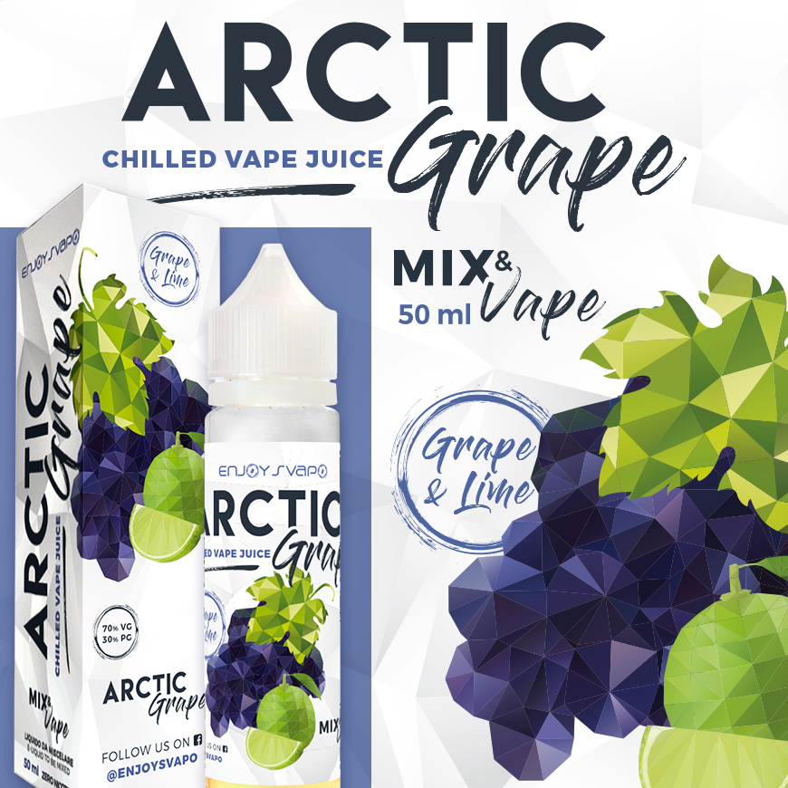 Enjoy Svapo Arctic Grape 50 ml mix un liquido estivo con uva ghiacciata e lime