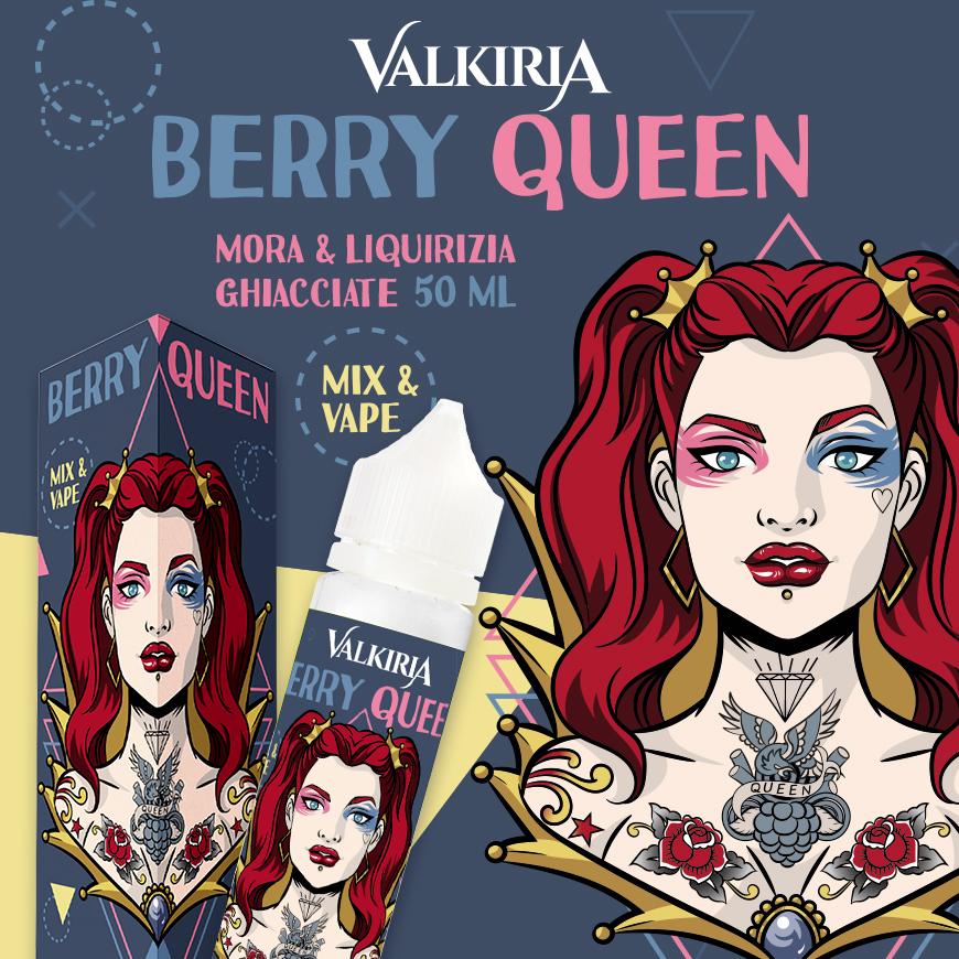 dal vapitaly 2019 nuovo liquido mix & vape 50 ml berryqueen di valkiria con liquirizia mora e ghiaccio perfetto per lo svapo in cloud chasing