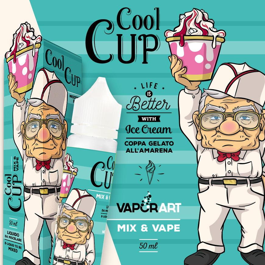 Vaporart Cool Cup 50ml mix&vape al sapore di gelato all'amarena