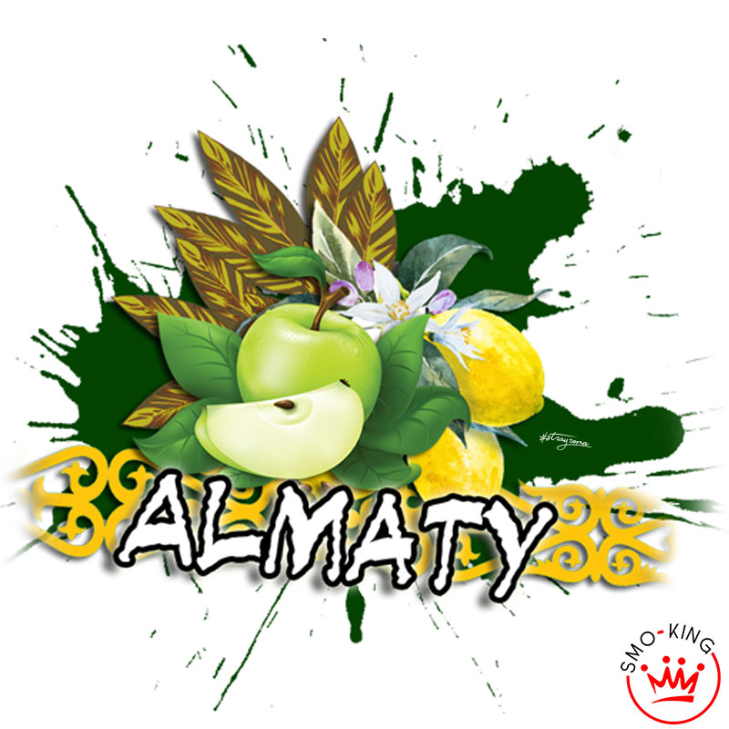 Il tabacco virginia con il limone e la mela verde crea almaty
