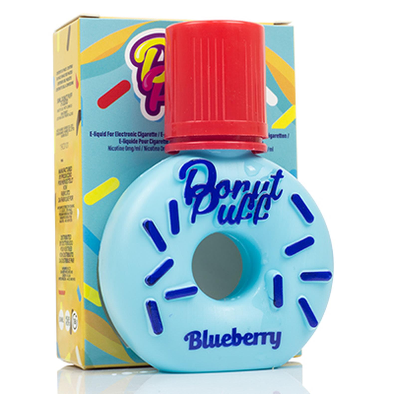 Ciambella glassata ai mirtilli, donut blueberry
