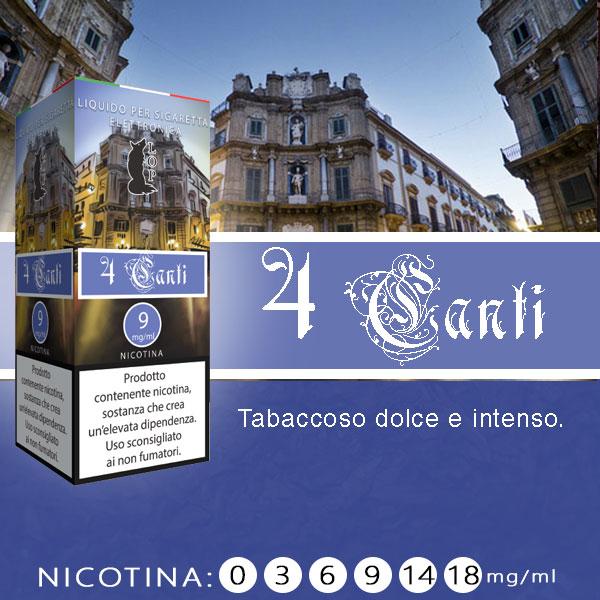 Lop 4 Canti 10 ml Liquido Pronto Nicotina al sapore di tabacco dolce e intenso