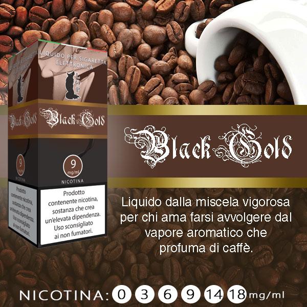 Lop Black Gold 10 ml Nicotine Ready Eliquid al sapore di tabacco al caffè