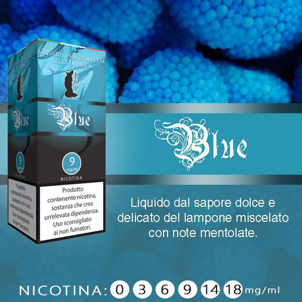 Lop Blue 10 ml Liquido pronto nicotina al sapore di lampone