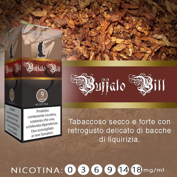 Lop Buffalo Bill 10 ml Liquido Pronto Nicotina al sapore di tabacco secco e forte con retrogusto di liquirizia