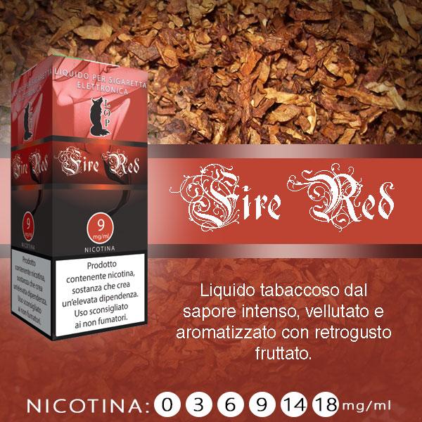 Lop Fire Red 10 ml Nicotine Ready Eliquid al sapore di tabacco e frutta