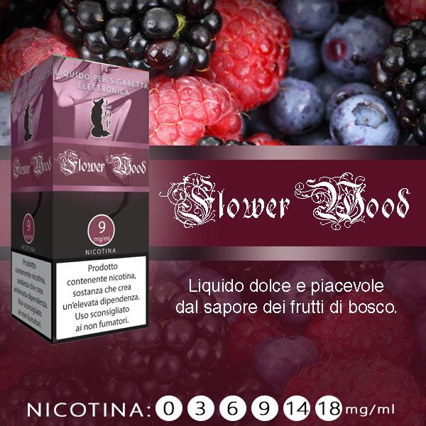 Lop Flower Wood 10 ml Liquido Pronto Nicotina al sapore di frutti di bosco