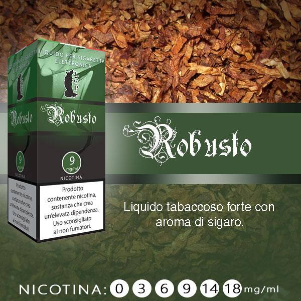 Lop Robusto 10 ml Nicotine Ready Eliquid al sapore di sigaro