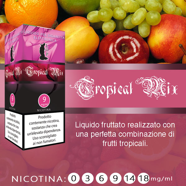 Lop Tropical Mix 10 ml Liquido Pronto Nicotina al sapore di frutta tropicale