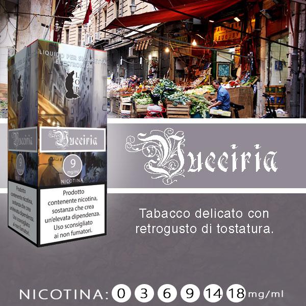 Lop Vucciria 10 ml Liquido Pronto Nicotina al sapore di tabacco delicato con retrogusto di tostatura