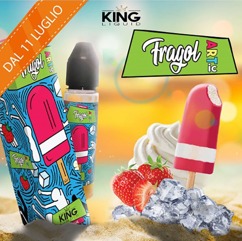 King Liquid Fragol Artic Aroma 20 ml una dolce fragola come il vecchio Fior di Fragola