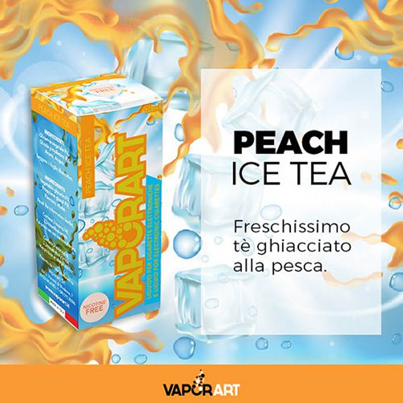 Vaporart Peach Ice Tea 10 ml Liquido Pronto Nicotina