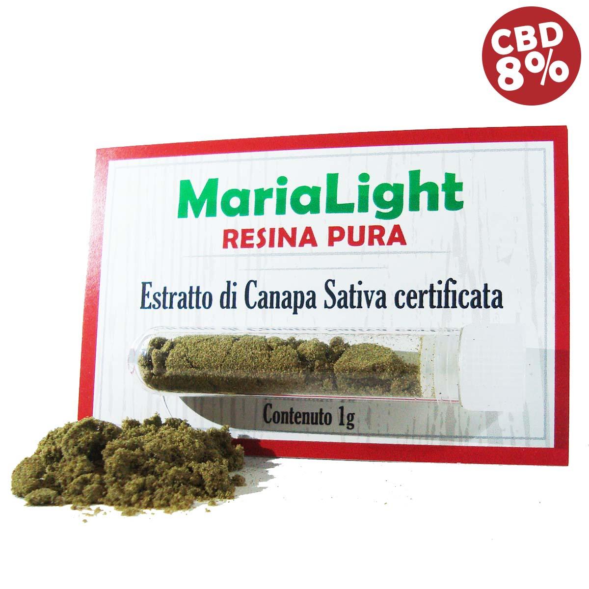 maria light resina pura estratto di canapa