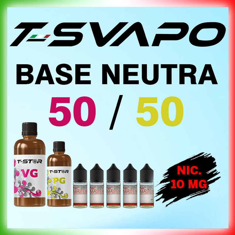 T-Star Base 50/50 Nicotina 10mg 90 ml