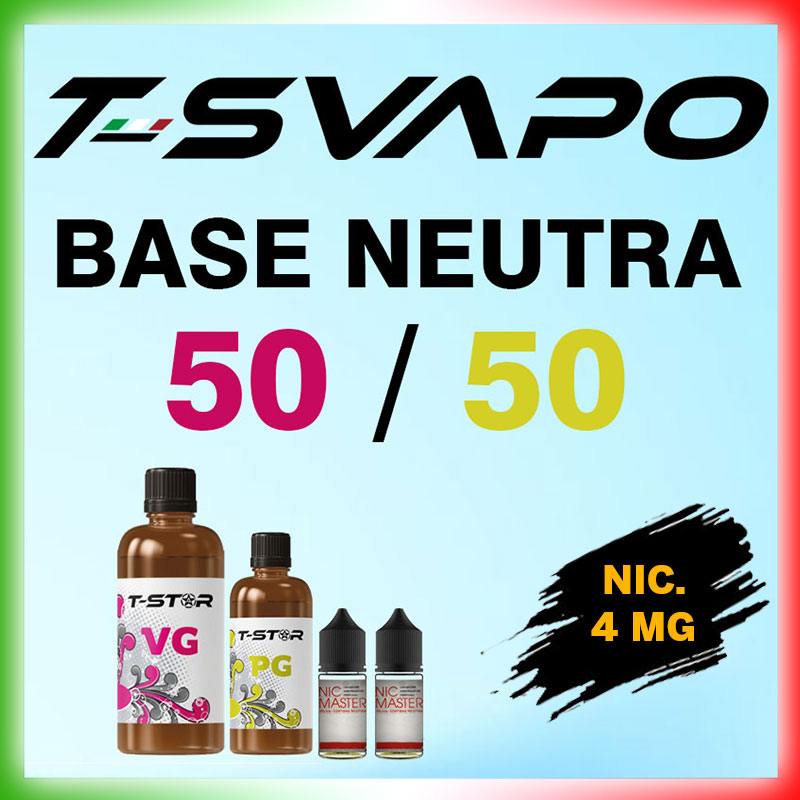 T-Star Base 50/50 Nicotina 4mg 90 ml